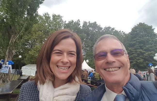 Petra Gössi zusammen mit Max O. Schmid