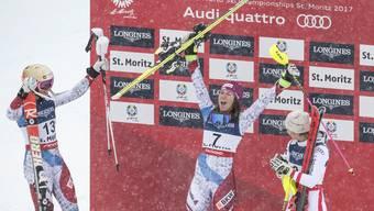 Die Schweizer Skirennfahrer hatten an dieser WM viel zu feiern. Wendy Holdener gewinnt die Kombination vor Michelle Gisin.