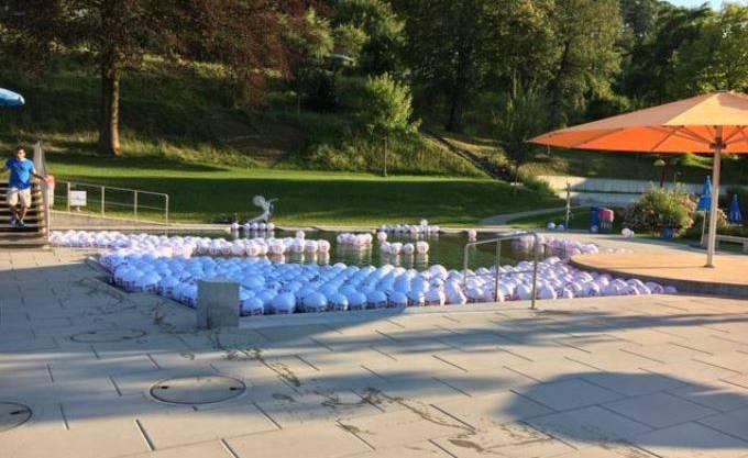 500 Bälle wurden verteilt.