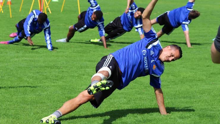 Philipp Degen im Training