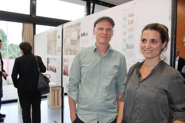 Die jungen Architekten Tilman Schmidt und Daniela Zimmer haben gewonnen