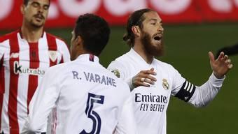 Auch er konnte nur hadern: Sergio Ramos scheidet mit Real Madrid im Halbfinale des Supercups aus.