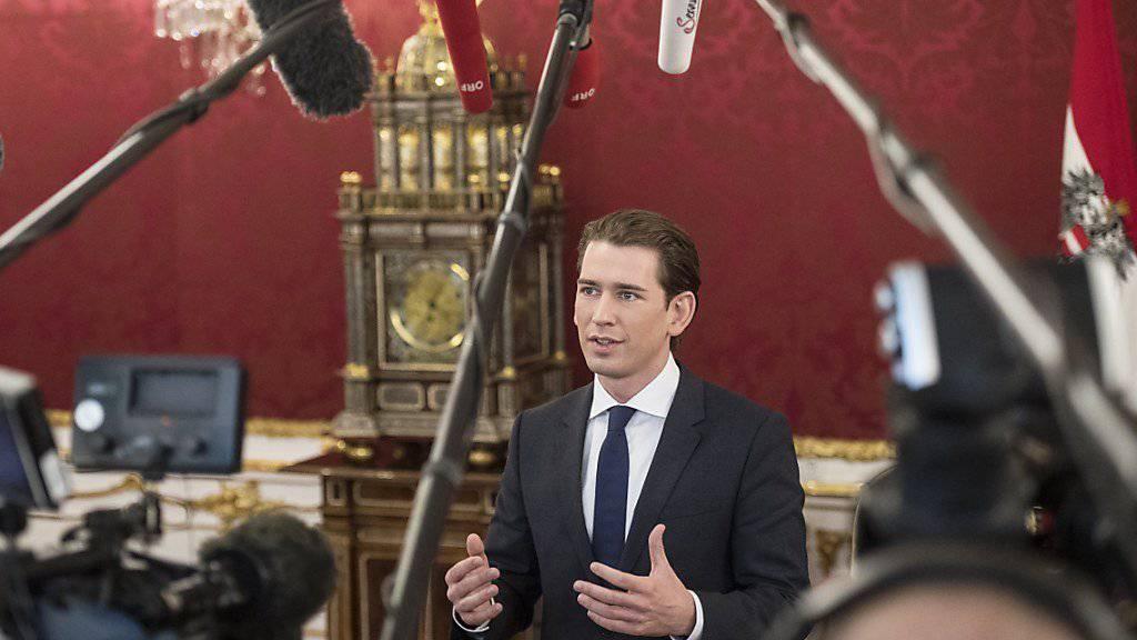 Er wird aller Voraussicht nach neuer Kanzler Österreichs: Sebastian Kurz. Zuerst stehen nun aber Koalitionsverhandlungen mit der FPÖ an. (Archivbild)