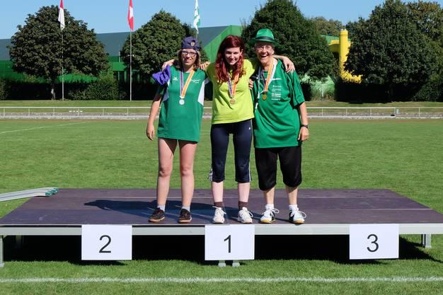 1.Rang Miriam Köhli (Procap Grenchen) 2.Rang Leila Nassif (PluSport Region Olten) 3.Rang Angela Buchli (Procap March-Höfe)