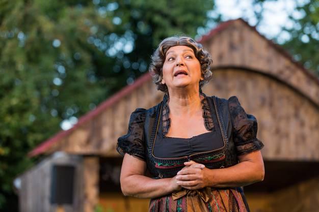 """Probe zum Freilichttheater """"D Schattmattbuure"""", gespielt von der Erlinsbacher Bühne am 14. August 2017."""