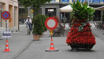 Die Bettlachstrasse wird während der Sommermonate für den Abschnitt gesperrt, in dem sie den Marktplatz bzw. den Zytplatz quert. (Archiv)