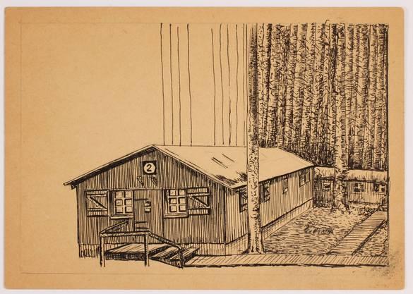 Das Lager Plenterplatz, gezeichnet von Leo Yeni.