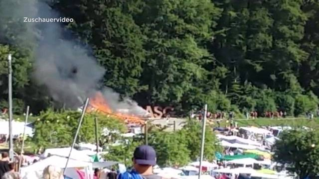 Brand am Openair St. Gallen