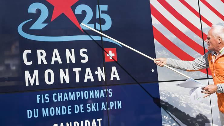 Das Logo der WM-Kandidatur von Crans-Montana für 2025