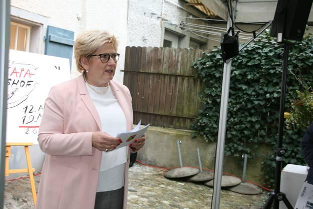 Regierungsrätin Beatrice Simon sprach über ihren guten Freund Scapa.