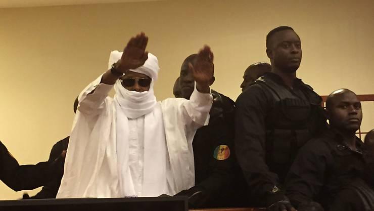 Habré im Mai vor dem Sondertribunal in Dakar, dass ihn zu lebenslanger Haft verurteilt hat.
