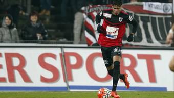 Miguel Peralta während seines ersten Pflichtspiel-Einsatzes für den FC Aarau beim 2:1-Sieg gegen Le Mont