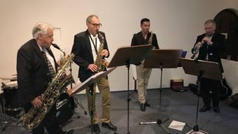Beherrschen ihr Handwerk virtuos: Hans Baumann, Rolf Schaeren, Alexander Zurbruegg und Martn Hartwig.
