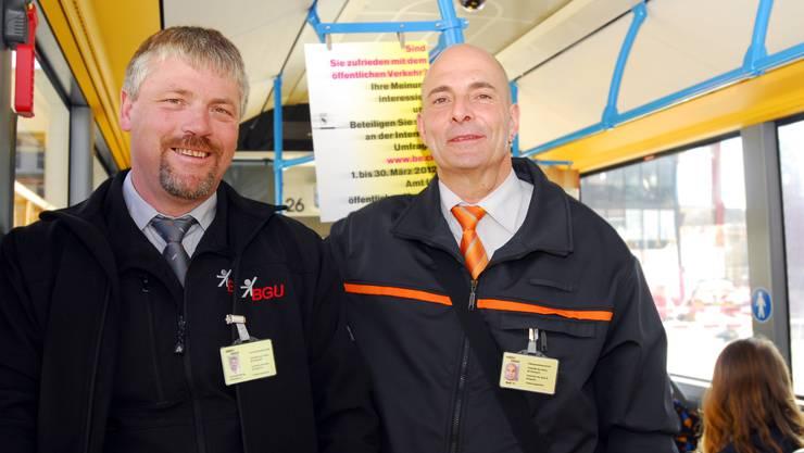 Kontrolleurenteam Beat Stucki und Martin Hiltbrand