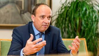 Finanzdirektor Markus Dieth: «Wir spüren einen schwachen Silberstreifen am Horizont.»