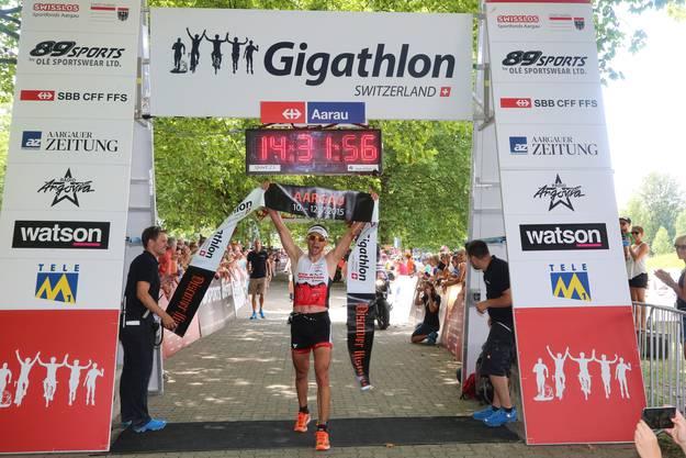 Sieger Ramon Krebs kommt ins Ziel