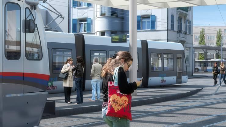 Die Limmattalbahn (hier die geplante Haltestelle Bahnhof Dietikon) erhält prominente Unterstützung.