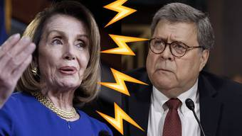 Nancy Pelosi attackiert William Barr.