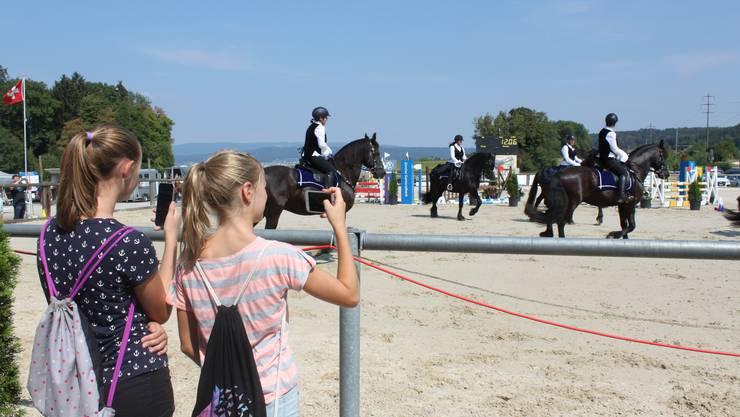 Viel zu sehen für Pferdefans – wegen der grossen Hitze wurde der Wettkampf auf Sand ausgetragen.