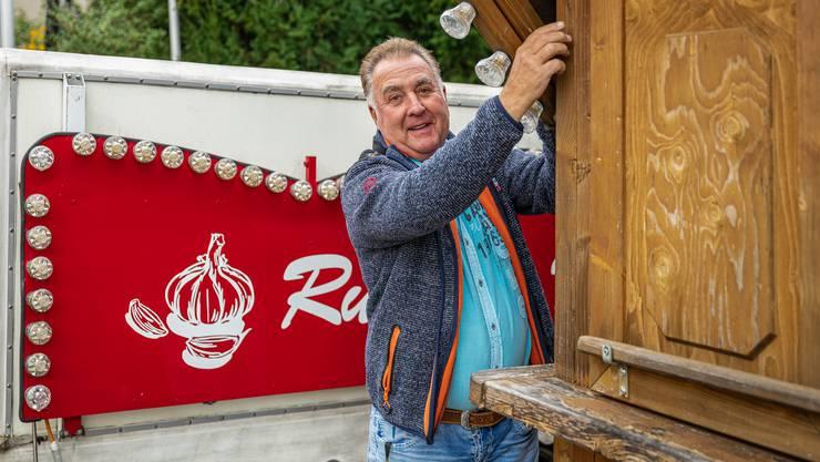 Die Knoblibrote des Niederrohrdorfer Marktfahrers André Rudolf sind in weiten Teil der Schweiz bekannt.