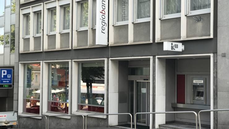 Die Regiobank Grenchen wurde am Montagnachmittag überfallen (23.Juli 2018)