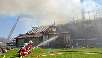 In Ammerzwil brannte dieses Bauernhaus nieder