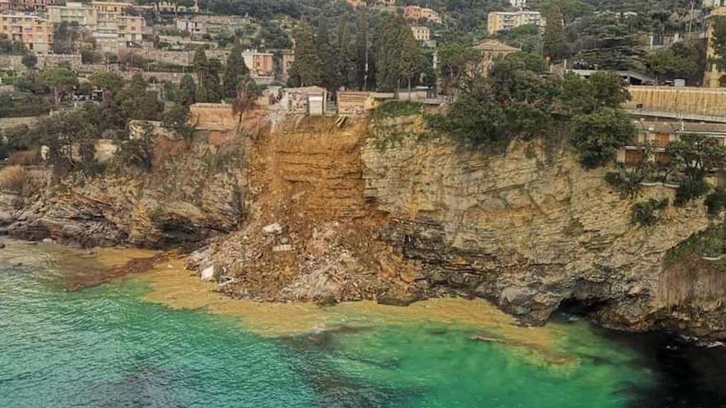 Erdrutsch in Camogli (IT): Rund 200 Gräber ins Meer gestürzt