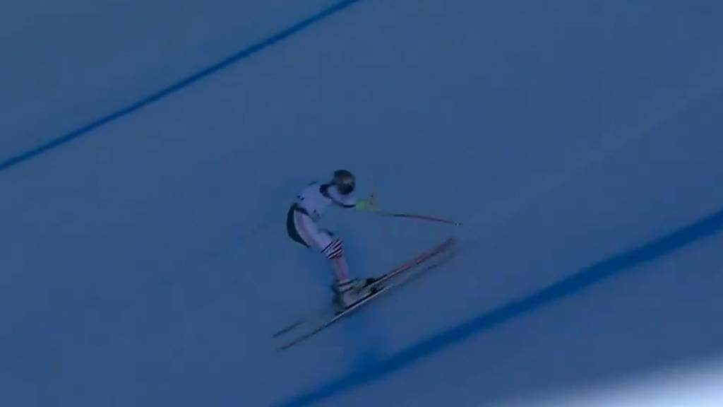 Unglaublich: Skirennfahrer Muzaton rettet sich spektakulär aus Sturz