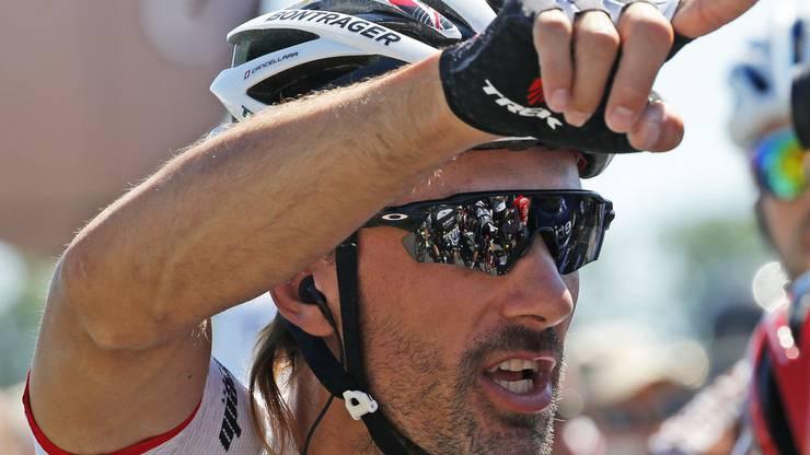 Fabian Cancellara stieg in Finhaut-Emosson aus der Tour aus.