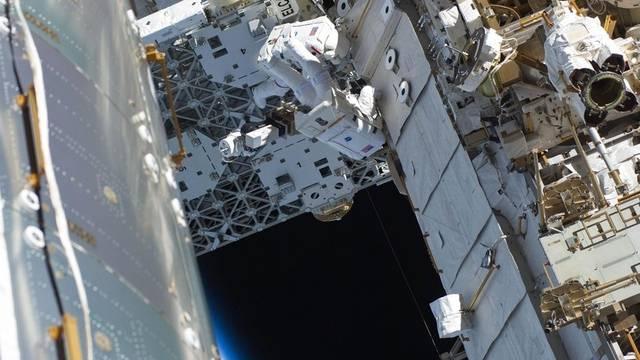 Ausseneinsatz an der internationalen Raumstation