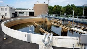 Die ARA in Winznau am Dienstagvormittag. Weil der Alarm am letzten Mittwochabend hier nicht funktionierte, kam es zur Wasserverschmutzung.