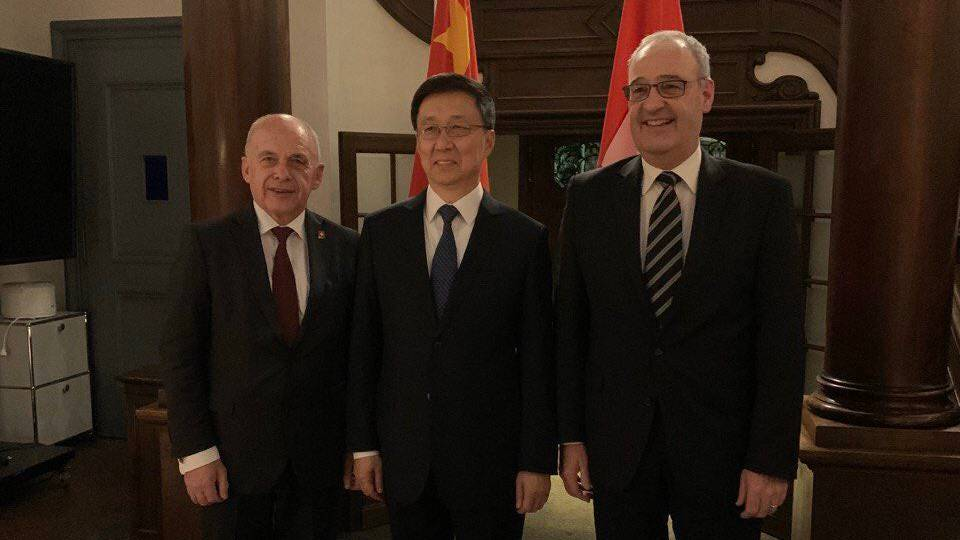 Parmelin und Maurer empfangen chinesischen Vize-Premierminister