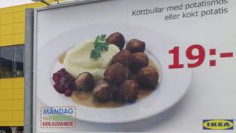 Nach den berühmten Ikea-Fleischbällchen hat nun auch die Elch-Lasagne ihren Skandal (Archiv)