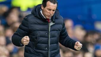 Nicht Freude, sondern Ärger bringt Arsenals Trainer Emery hier zum Ausdruck