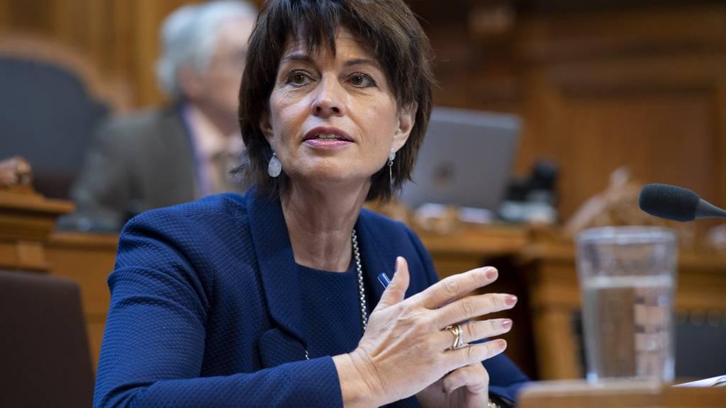 Bundesrätin Doris Leuthard spricht an der Herbstsession der Eidgenössischen Räte, am Donnerstag, 27. September 2018 im Ständerat in Bern, kurz vor Bekanntgabe ihres Rücktritts.