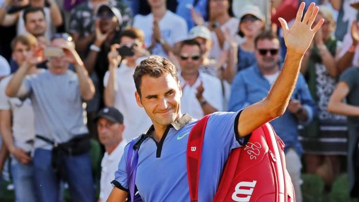 Roger Federer gewinnt in Halle gegen Mischa Zverev.