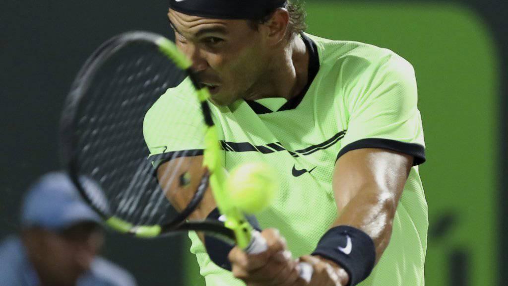 Rafael Nadal hat im Viertelfinal von Miami Ball und Gegner im Griff