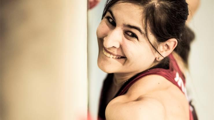 Rebekka Stotz hat immer noch Spass an der Kletterwand. SAC/davidschweizer.ch