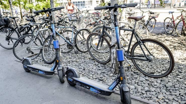 Sie sind fast verschwunden: In Basel gibt es nur noch wenige E-Trottinetts.