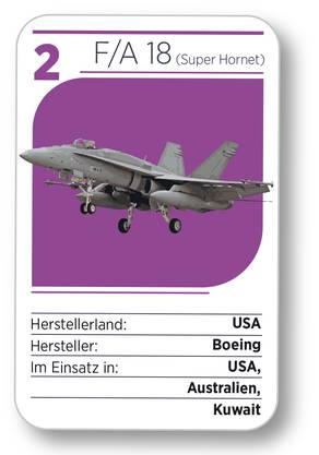 Kampfjet Nr. 2: Der F/A 18 (Super Hornet) aus den USA