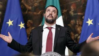 """""""Macron ist ein schrecklicher Präsident"""": Italiens Innenminister Matteo Salvini. (Archivbild)"""