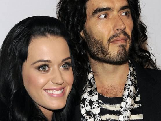 Haben zu laut gefeiert: Katy Perry und Russell Brand (Archiv)