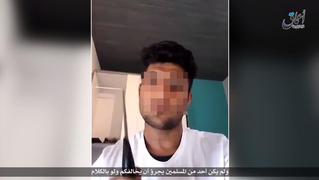 Droh-Video des Angreifers von Würzburg. ISIS releases video behind Wurzburg terror