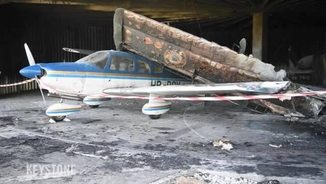 Brandschaden in Millionenhöhe auf dem Flugplatz Biel-Kappelen