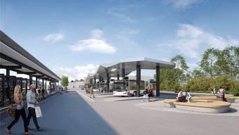 Wohlen sagt sehr deutlich ja zum neuen Bahnhofplatz samt Bushof und unterirdischer Park&Ride-Anlage
