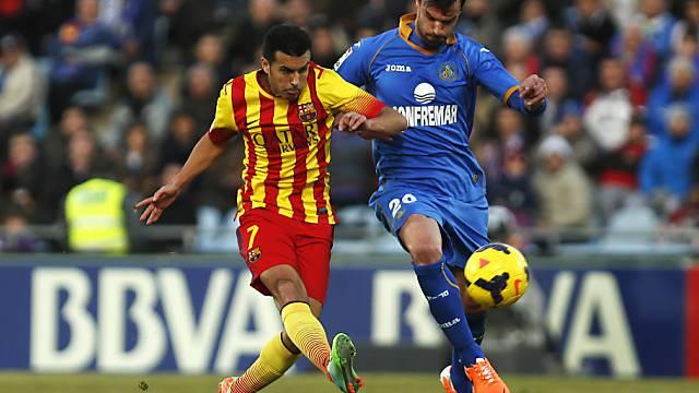 Barcelonas Pedro (l.) wendet mit Hattrick Partie gegen Getafe