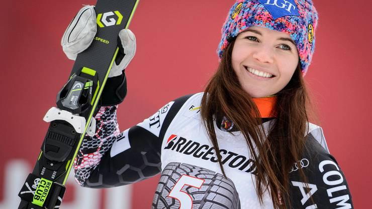 Lächeln nach einem der vielen guten Läufe: Tina Weirather