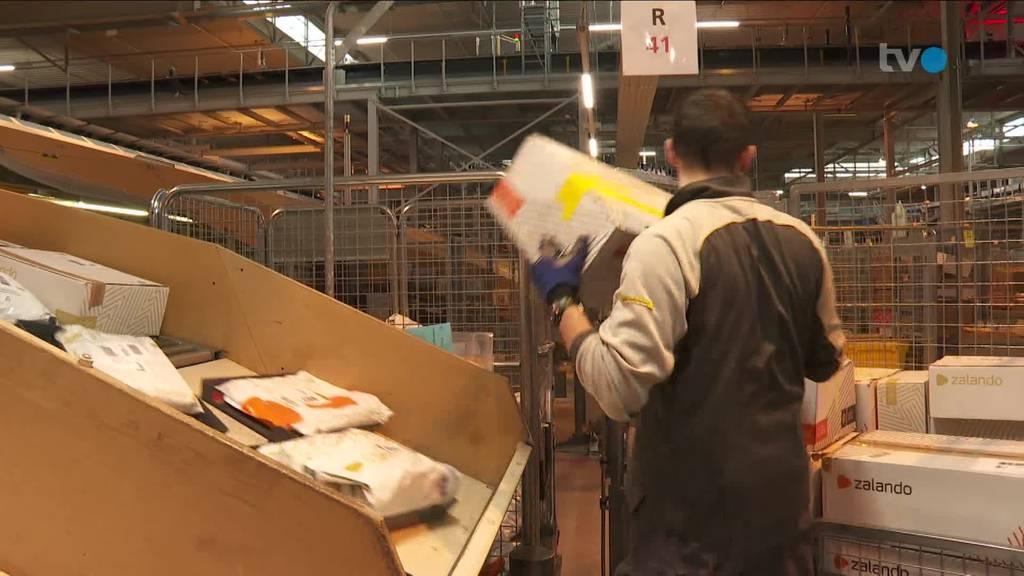 Paketzentrum Frauenfeld: Hochbetrieb an Weihnachten