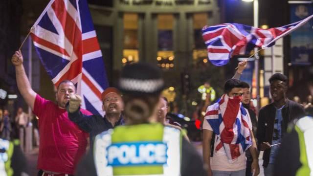 Demo der Gegner der Unabhängigkeit Schottlands in Glasgow