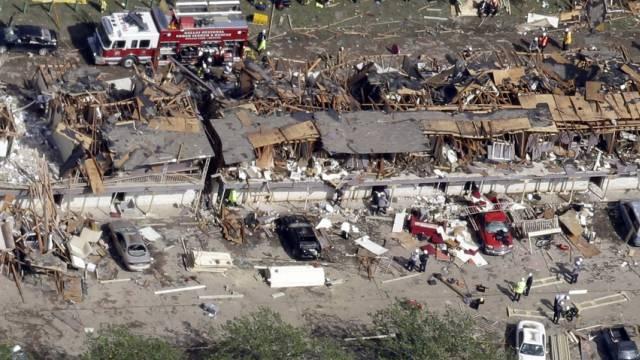 Wie ein Erdbeben der Stärke 2,5: Explosion der US-Düngerfabrik